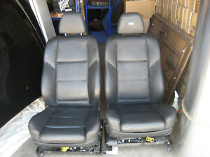 Pair Bmw Sport Seats Black Marino Leather