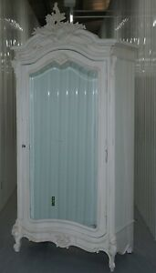 Rrp 1435 Chateau Mirrored Armoire Wardrobe With Handing Rail Mirrored Door