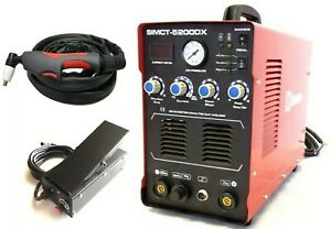 Plasma Cutter 50a Simadre 110 220v 5200dx 200a Tig Arc Mma Welder 3in1 New