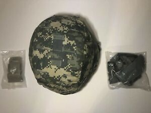 Army ACH Advanced Combat Helmet Level IIIA New Mount Chin Strap ACU Cover Large