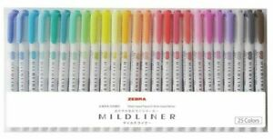 Zebra Highlighter Mild Liner 25 Color Set Wkt7 25c From Japan