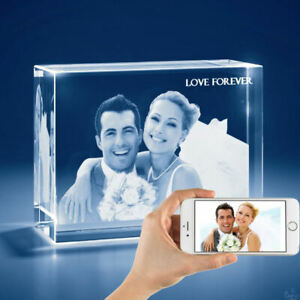 3d Personalized Laser Engraved Crystal Gift 2x large Tower Shape