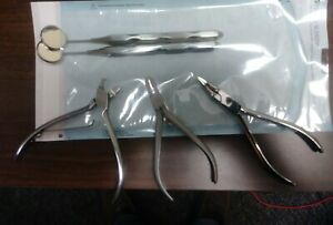 Lot Of Orthodontic Tools Wire Cutter Crimper Weignart Pliers