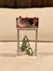 DEPT 56 SNOW VILLAGE COCA COLA billboard in mint condition with box