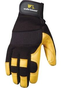 Wells Lamont Weather Resistant Hydrahyde Leather Work Gloves Xl Black 3 Pk New