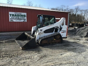 2014 Bobcat T590 Compact Track Skid Steer Loader W Cab Only 1200hrs