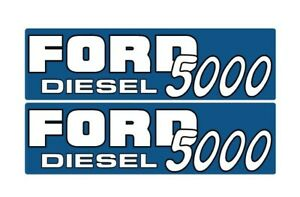 Ford 5000 Major Tractor Hood Decal Kit Graphics Stickers Emblem Set Sides