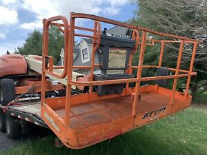 2003 Jlg 400s 40 4wd Telescopic Boom Man Lift Aerial Platform Come With Trailer