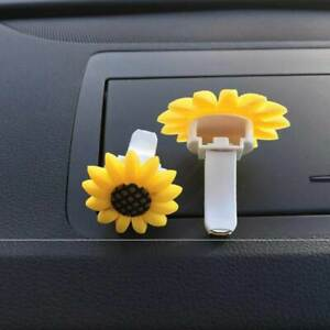 1pcs Car Decoration Car Air Conditioning Outlet Sunflower Solid Perfume