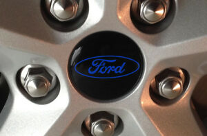 4 Custom Center Cap Decals Wheel Stickers Emblem Overlays For All Ford Vehicles