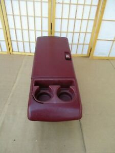 88 94 Chevy Pickup Truck Suburban Blazer Jimmy Red Maroon Armrest Center Console