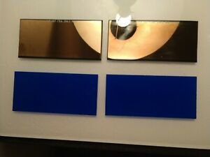Ultra Blue two Sets 2 Pc Gold Lens Set Amazing Clarity color 2x4 25 Sh 11