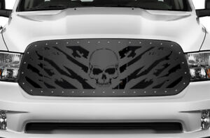 Custom Aftermarket Grille For Dodge Ram 1500 2013 2018 Steel Grill Kit Nightmare