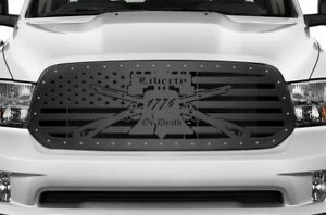 Custom Steel Grille Kit For Dodge Ram 1500 2013 18 Truck Grill Liberty Or Death