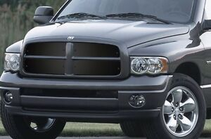 Custom Cold Front Winter Grille Cover Dodge Ram Truck 02 05 1500 2500 3500 Black