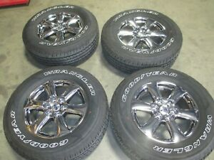 18 Ford F150 Chrome Pvd Factory Oem Wheels Rims Goodyear Tires Expedition 10168