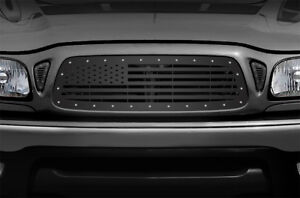 Custom Aftermarket Steel Grille American Flag Fits 01 04 Toyota Tacoma Truck