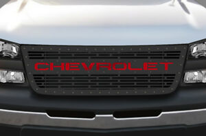 Steel Grille Chevrolet For Chevy Silverado 2003 2007 1500 2500 Grill Red Acrylic