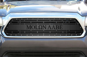 Custom Steel Aftermarket Grille Kit For 2012 2015 Toyota Tacoma Molon Labe Grill