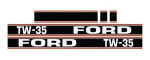 Ford Tw35 Tw 35 Tractor Hood Decal Kit Graphics Stickers Emblem Set New Holland