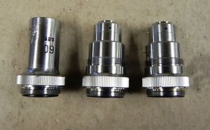 Lot Of 3 Rbx 60x Laser Beam Expander s Microscope Objective Lens See Des