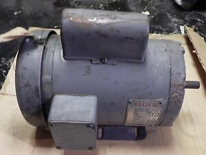 Baldor Ac Motor 35 469 155 1ph 0 75hp 115 230v 10 6 5 3amp 60hz 1725rpm Used