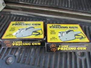Lot Of Two Pricing Guns Label 2 Line