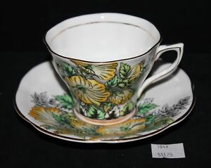 Lmas Ceramic Rosina Bone China Tea Cup Saucer Yellow Floral
