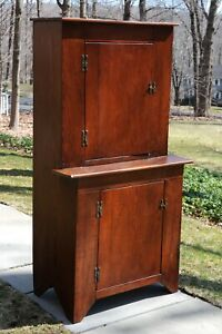 Antique Handmade Cupboard Cabinet Hutch Country