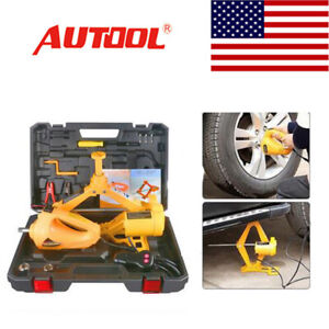 Autool 3ton Electric Jack For Car Auto Suv Emergency Repair Tire Replace Tool Us
