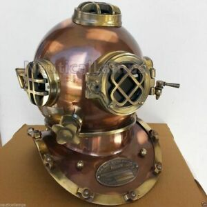 Diving Divers Helmet Antique Collectible Steel Brass Mark V Navy Full 18 Inch