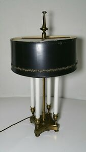 Vintage Stiffel Brass Bouillotte Candlestick Table Lamp 4 Candle Sticks