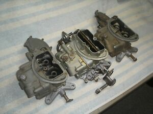 1970 340 Six Pack Carbs Aar Cuda Ta Transam Challenger Holley 4789 4790 4792
