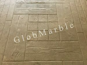 Concrete Stamp Mat Sm 5100 Wood Plank And Log Stamped Concrete Woodgrain Mats