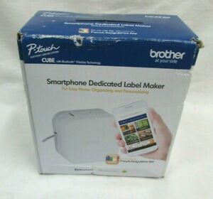 Bother P touch Cube Smartphone Label Marker Bluetooth Wireless White