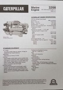 Caterpillar Cat 3208t 320 Hp Marine Diesel Engine twin Disc 1 5 1 Transmission