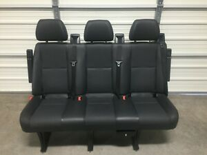 2007 2018 Mercedes Dodge Sprinter 3 Passenger Van Seat Black Leather