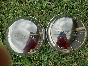 Ford Passenger Car Pickup Truck Stainless Baby Moon Hubcap