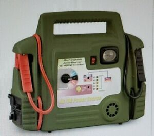 Guide Gear Jump Starter With 400w Inverter Item Wx2 75298 Green Rare New