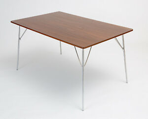 Herman Miller Eames Dtm 10 Mid Century Modern Table Dining Kitchen Folding