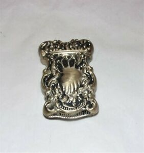 Antique Sterling Silver Victorian Match Safe Vesta