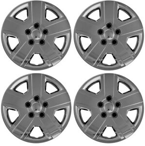 New Set Of 4 16 Inch Chrome 5 Spoke Aftermarket Wheel Covers Hubcaps