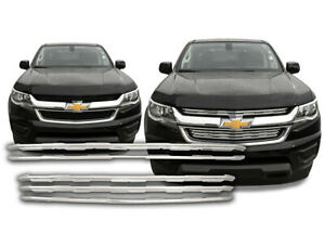 New Chrome Grille Grill Overlay Insert For 2015 Chevy Chevrolet Colorado Lt Wt