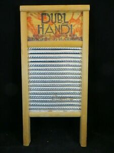 Vintage Dubl Handi Washboard 18 X 8 5 Columbus Great
