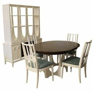 Mid Century Modern Broyhill Brasilia Dining Table Chairs Credenza