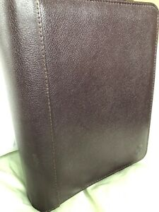 Franklin Quest Covey Classic Brown Cowhide Open Binder Planner
