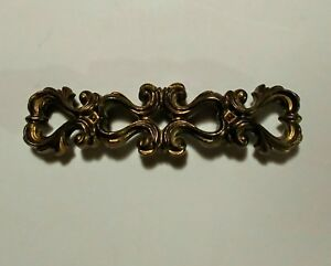 Keeler Brass N5464 French Provincial Drawer Pull 4 Bore Gold Fancy Scrolls L K