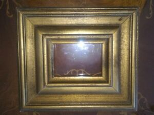 Small Wooden Frame Important Distressed Made In Italy