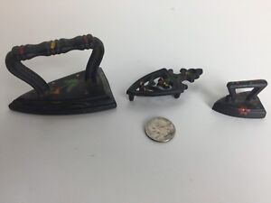Miniature Irons Made From Real Cast Iron Decorative