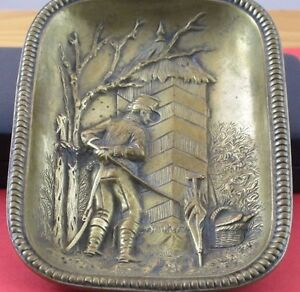 Curious Soldier Spying On His Officer Erotic Brass Or Bronze Dish Tray Jz 0292